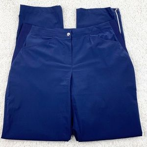 Chico's Zenergy Navy Blue Pants with Zippers | 2